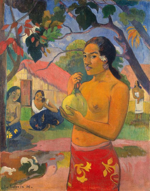 Paul Gauguin. Woman holding a fruit