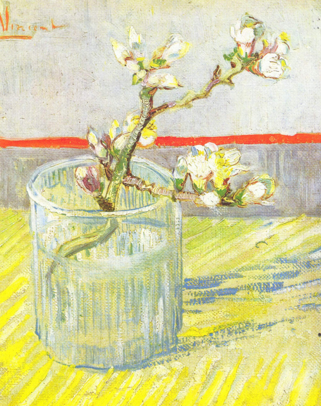 Vincent van Gogh. Blossoming Almond Branch in a Glass