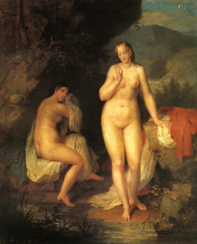 Вильгельм Август Голике. Две купальщицы