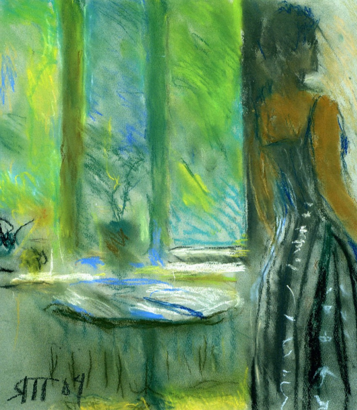 Tetyana Yablonska. Gayane and green window