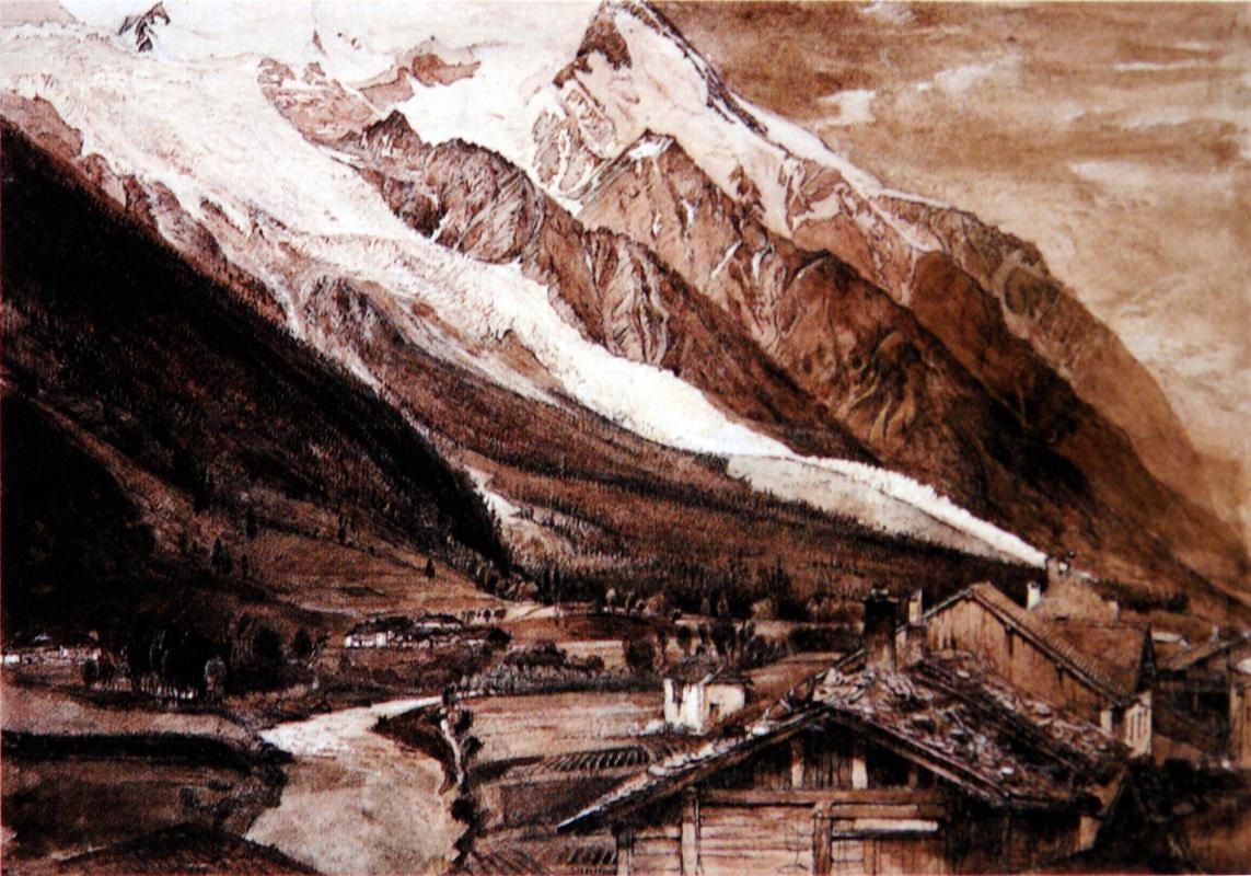 John Ruskin. Bosson Glacier, Chamonix