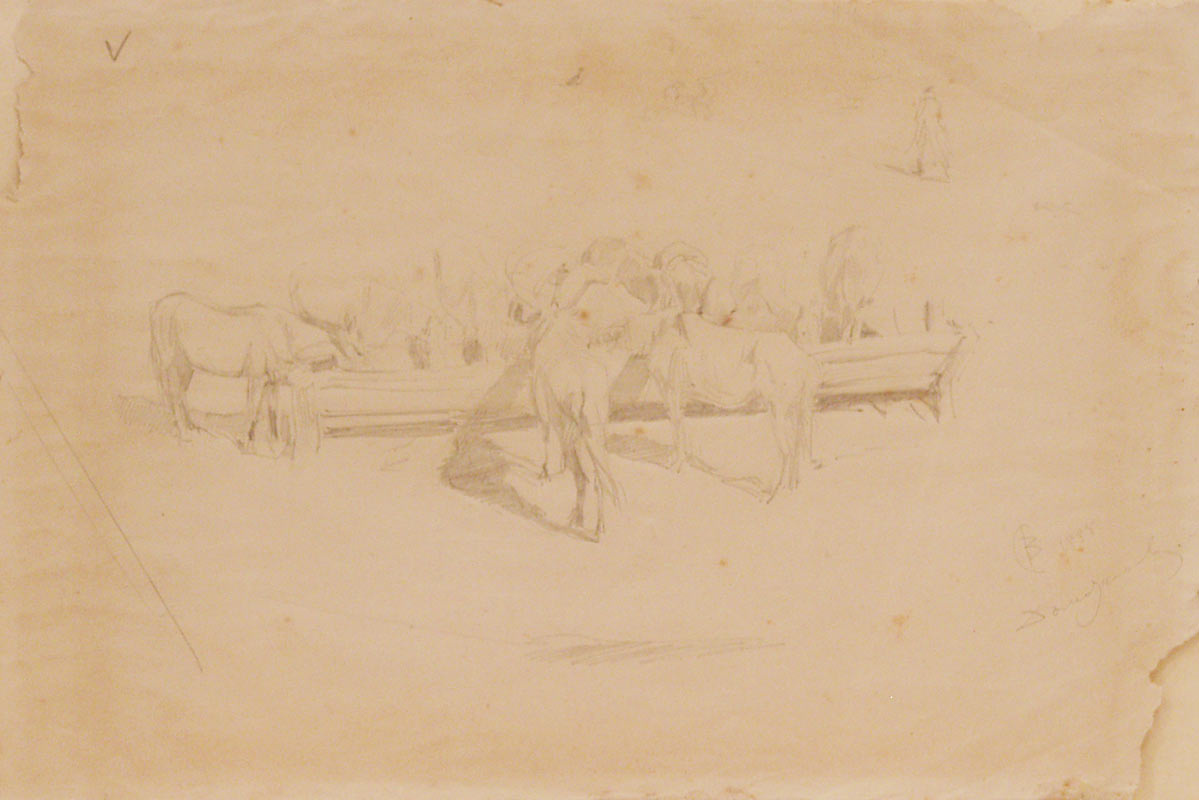Valentin Aleksandrovich Serov. Horses at the watering