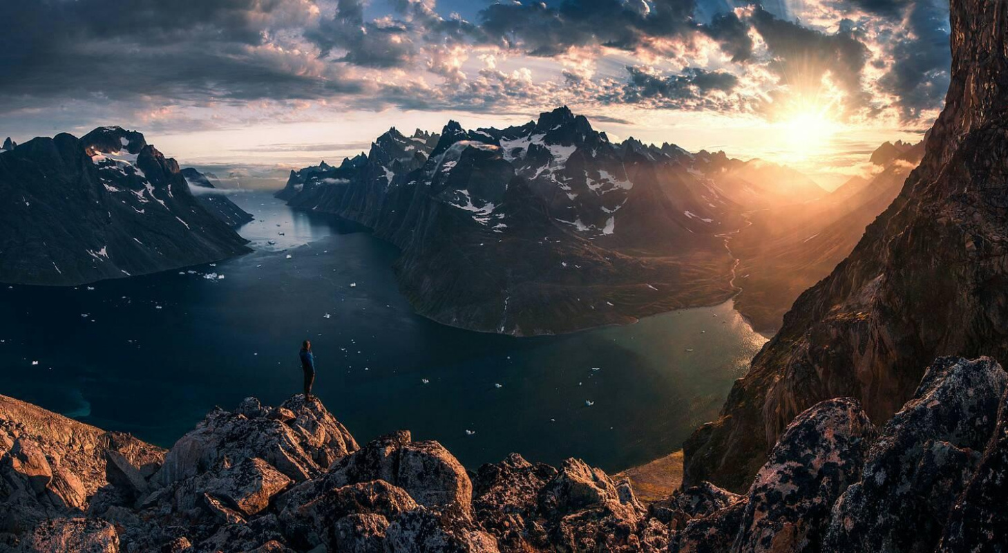 Thiên Đạo. Great mountain scenery