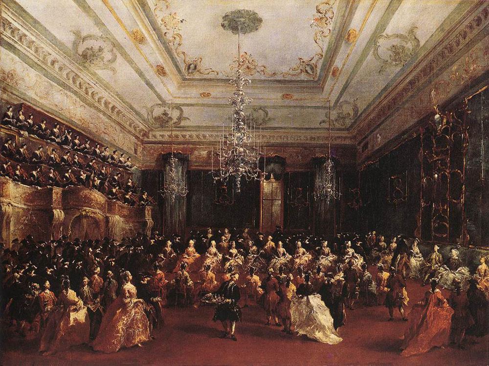 Франческо Гварди. Дамский концерт в честь графов Северных