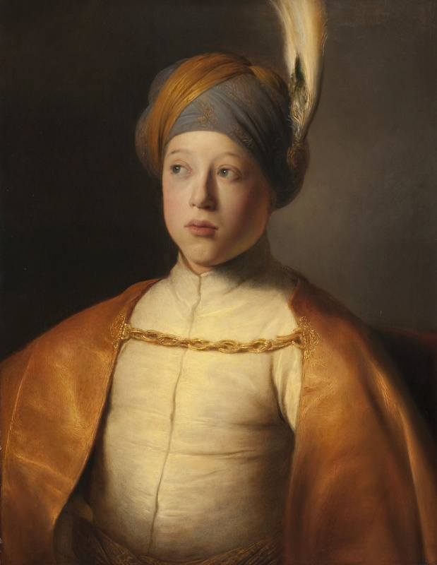 Jan Lievens. The boy in the cloak and turban (Portrait of Prince Rupert of the Palatinate)