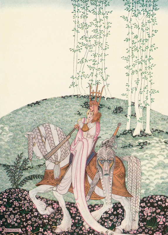 "Illustration of the collection of fairy tales ""East of the sun West of the moon"""