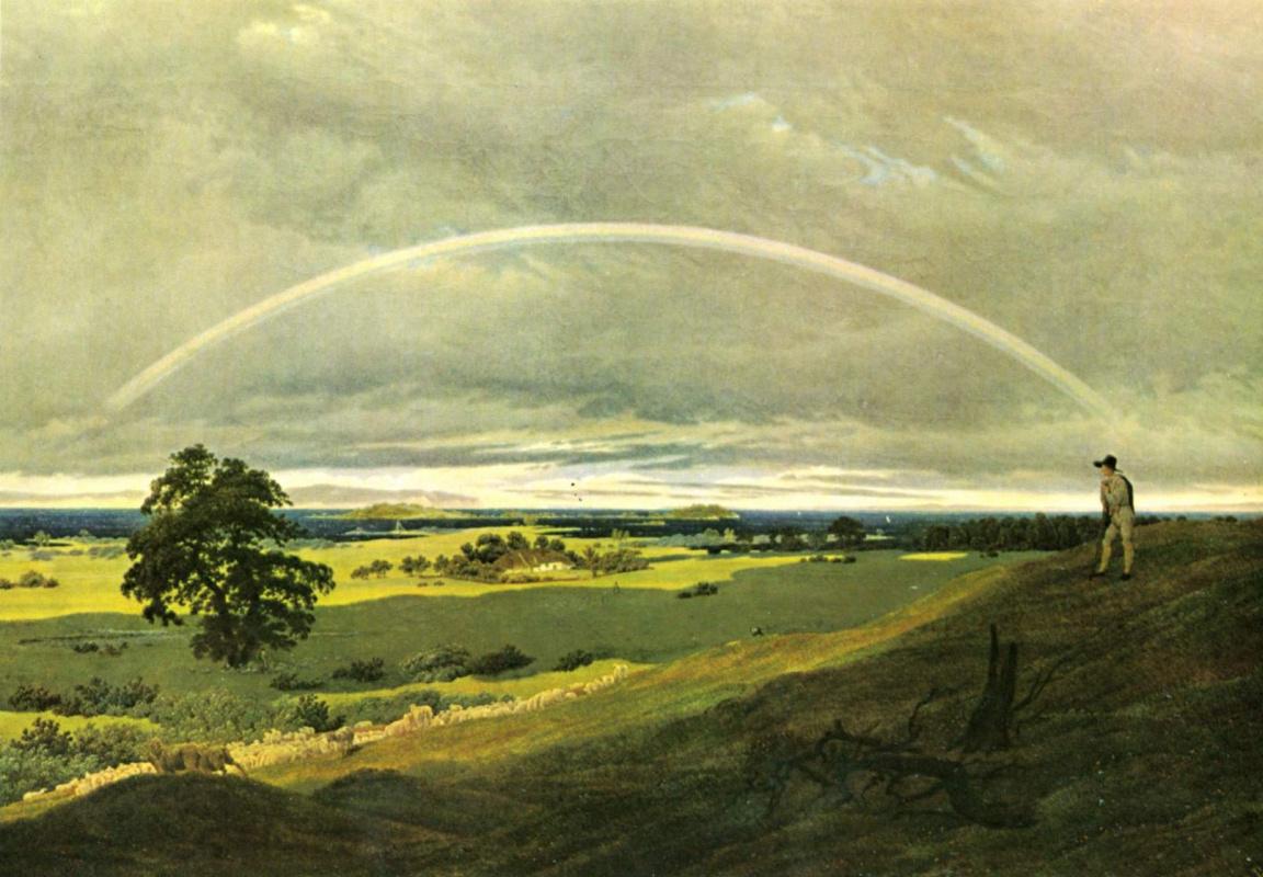 Каспар Давид Фридрих. Пейзаж с радугой