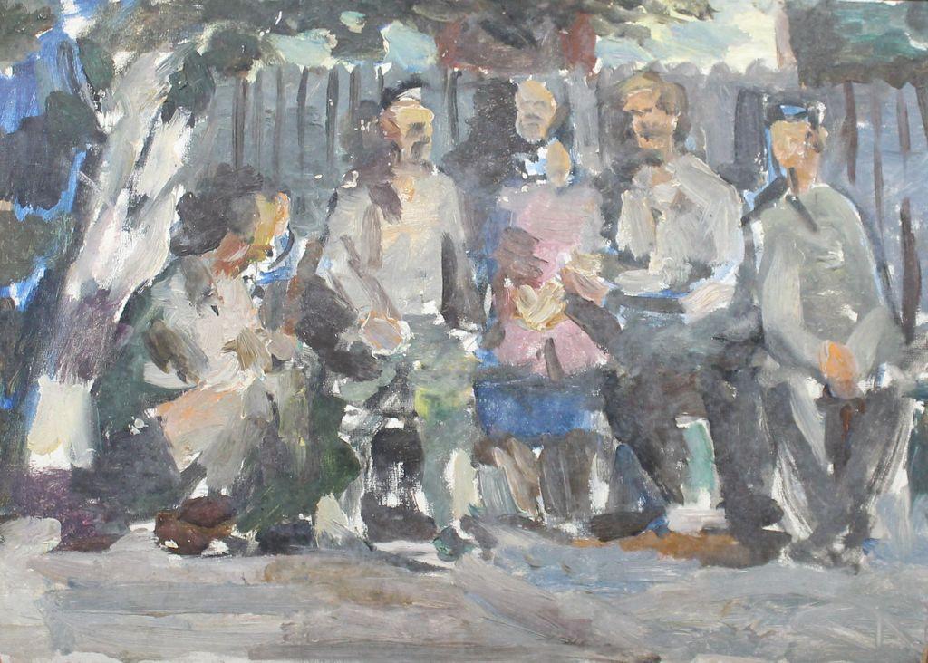 Fedor Fedorovich Melnikov. On the embankment