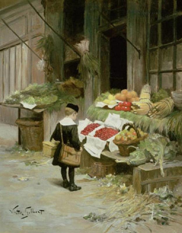Виктор Жильбер Габриэль. Овощная лавка
