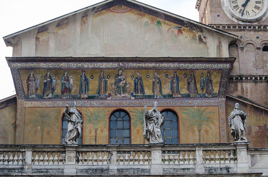 Pietro Cavallini. Mosaic of Cavallini in the Church of Santa Maria in Trastevere