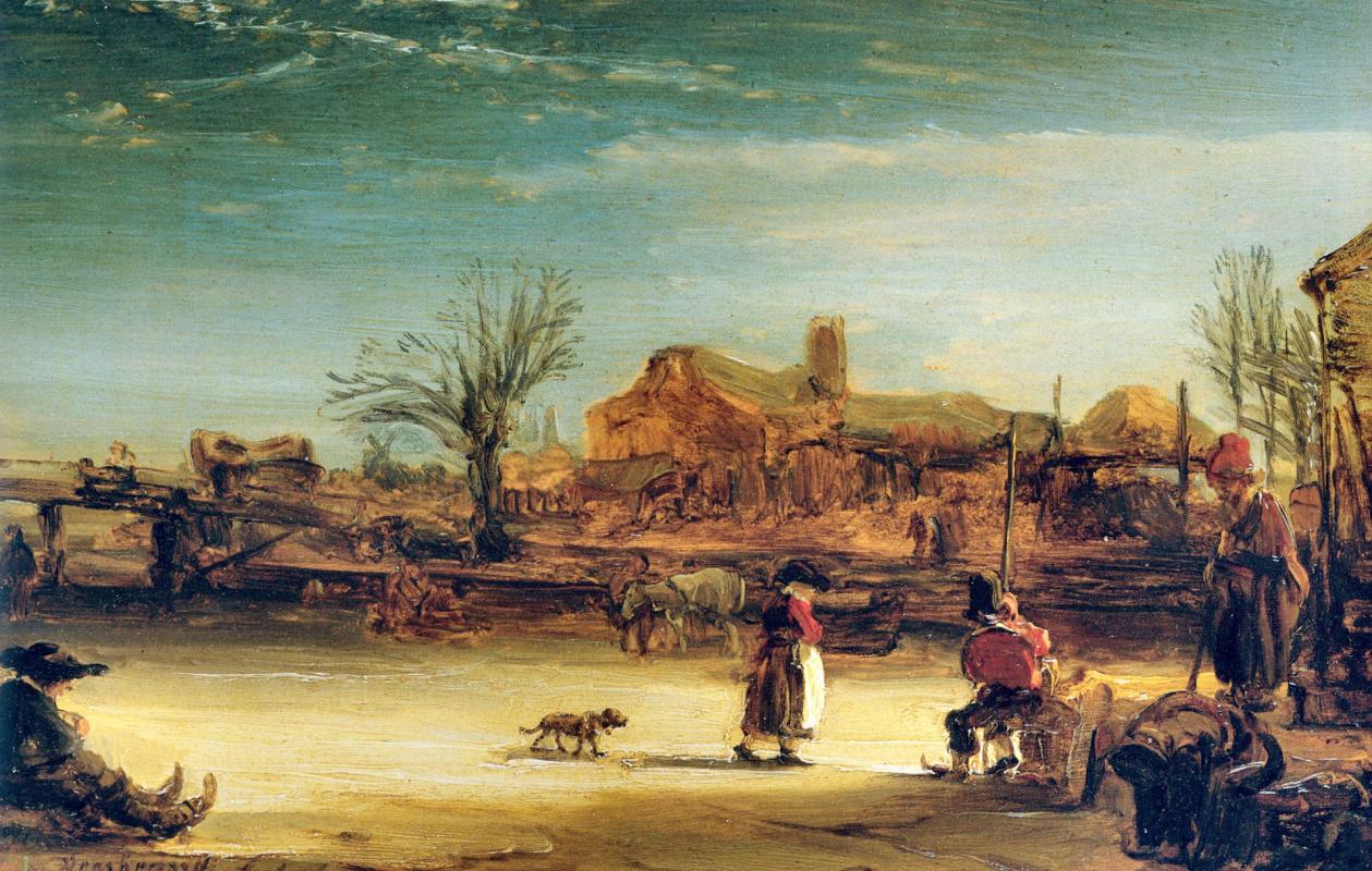Рембрандт Харменс ван Рейн. Зимний пейзаж