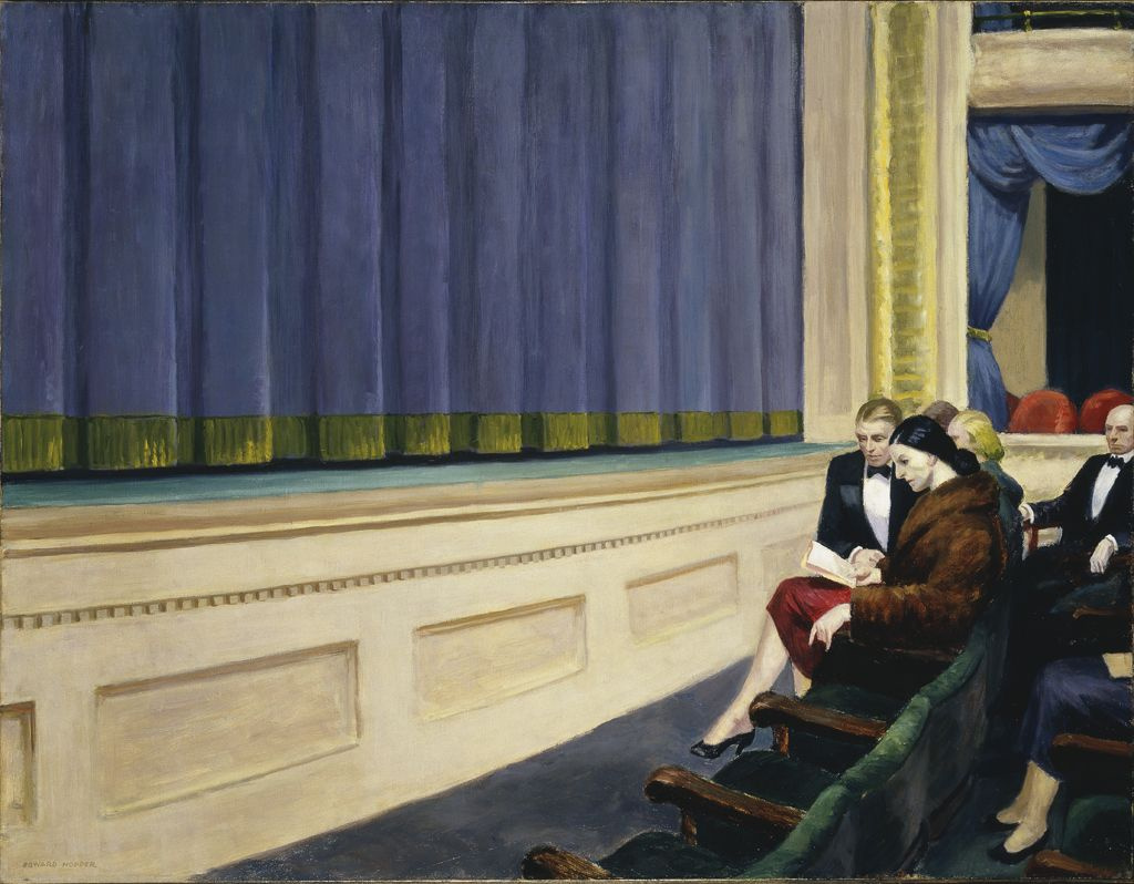 Edward Hopper. The first row of the orchestra
