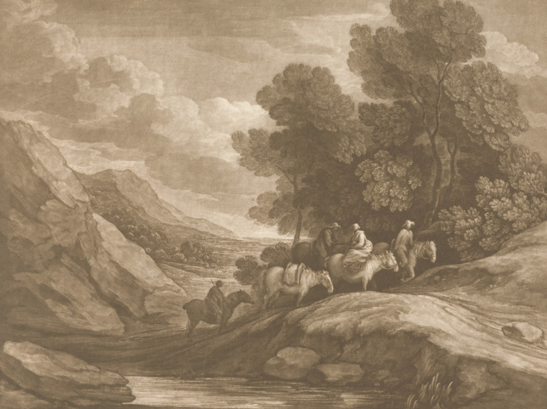 Томас Гейнсборо. Всадники на фоне холмистого пейзажа