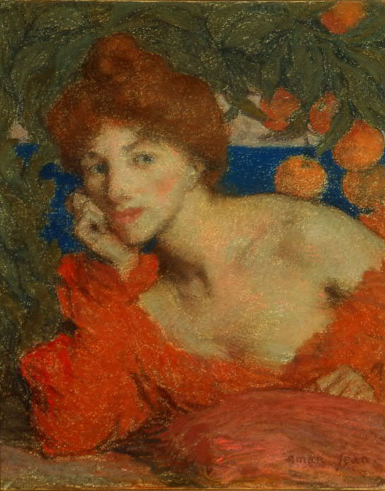 Эдмон Франсуа Аман-Жан. Под апельсиновым деревом