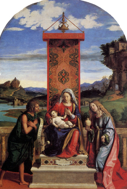 Мадонна с младенцем,Святыми Иоанном Крестителем и Марией Магдалиной