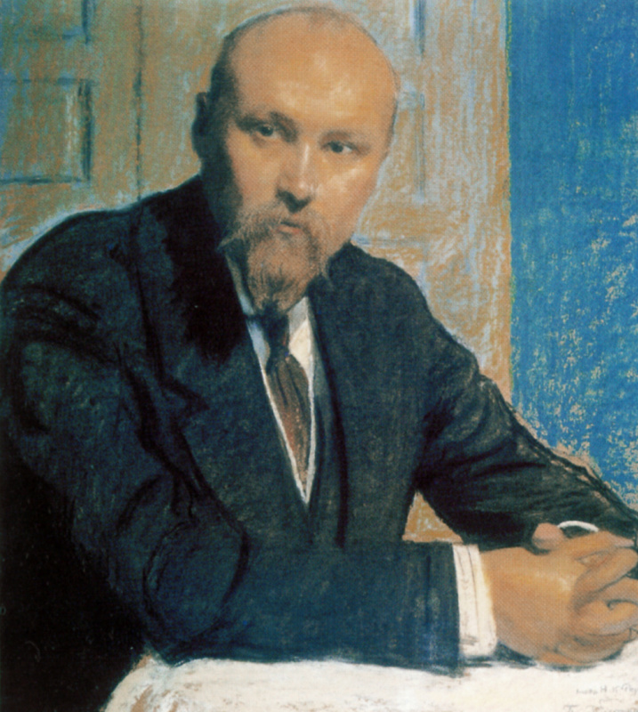 Борис Михайлович Кустодиев. Портрет Николая Константиновича Рериха