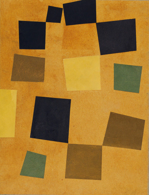 Jean Arp. Untitled (Squares arranged according to the laws of the case)
