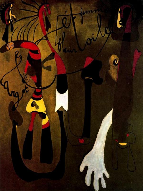 Joan Miro. Snail, woman, flower, star