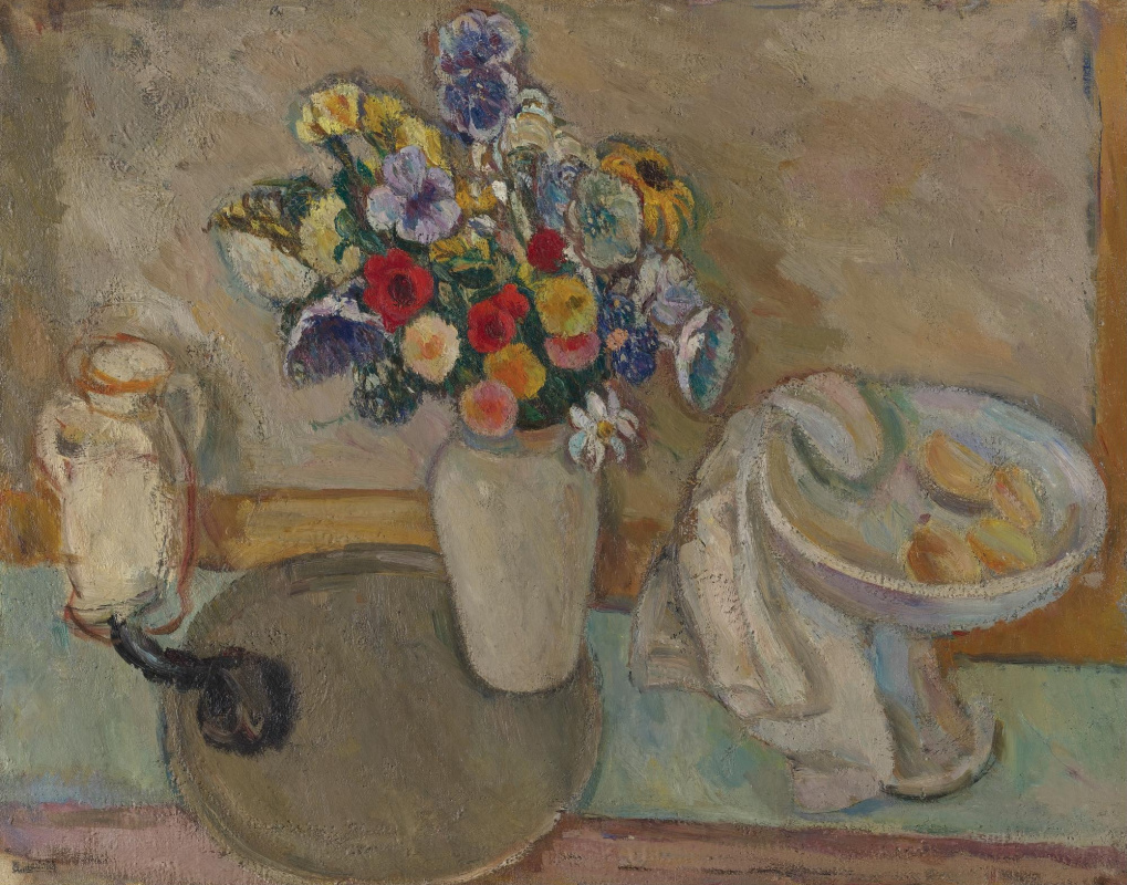 Абрам Аншелевич Маневич. Still life with flowers in a white vase