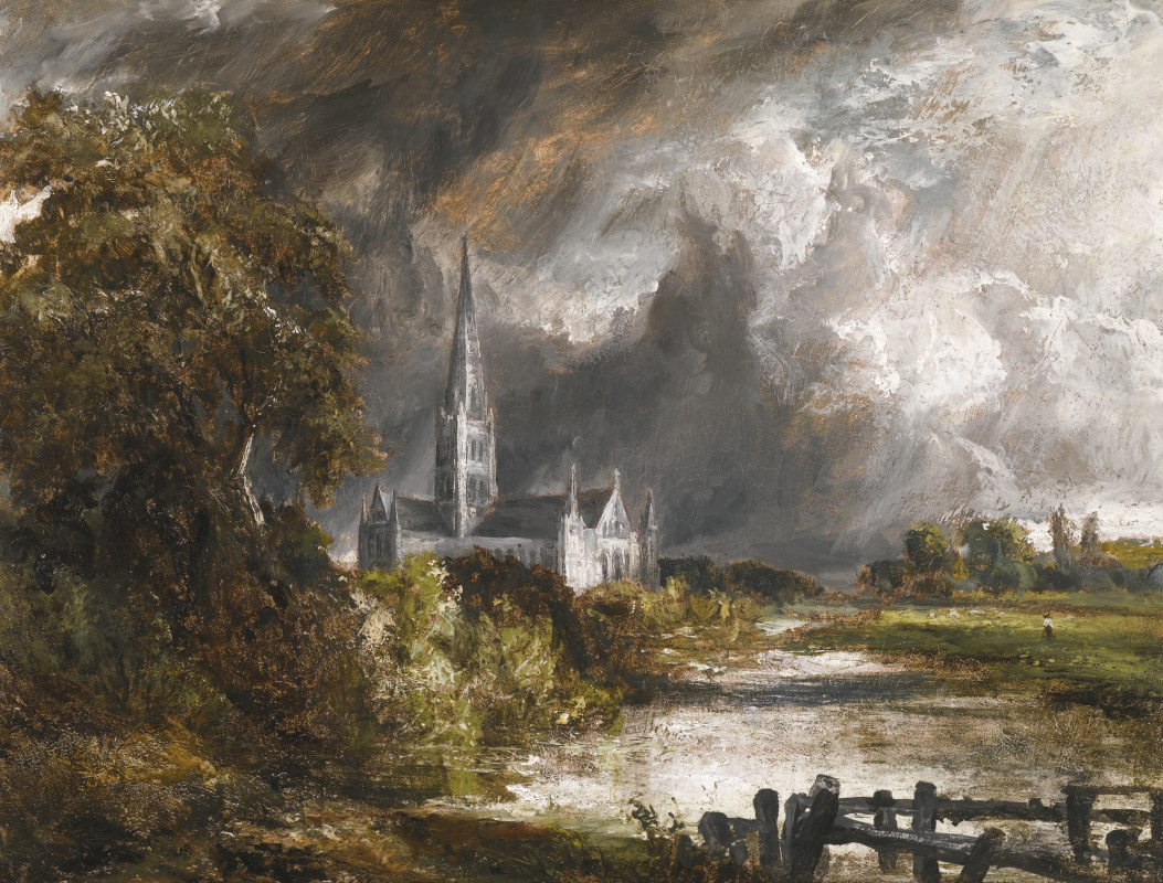 John Constable. Salisbury Cathedral, view from the meadows. Sketch