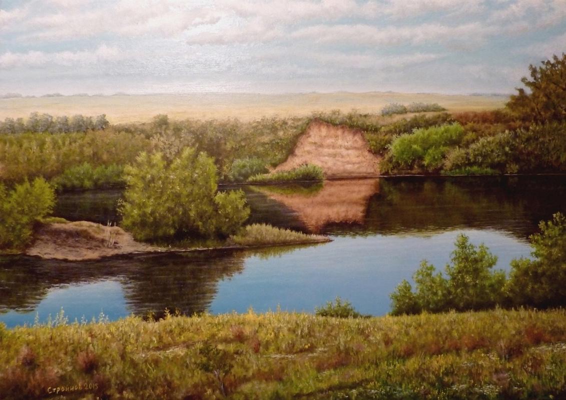"""Vitaliy Vadimovich Stroynov. """"Steppe river."""""""