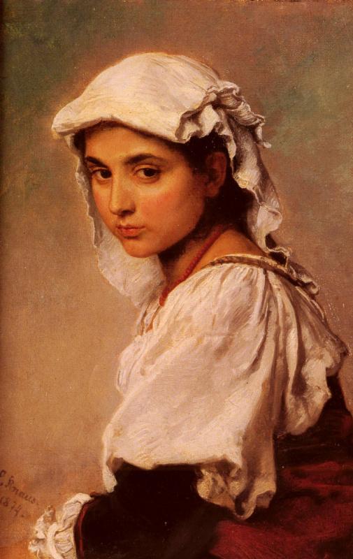 Людвиг Кнаус. Портрет тирольской девочки