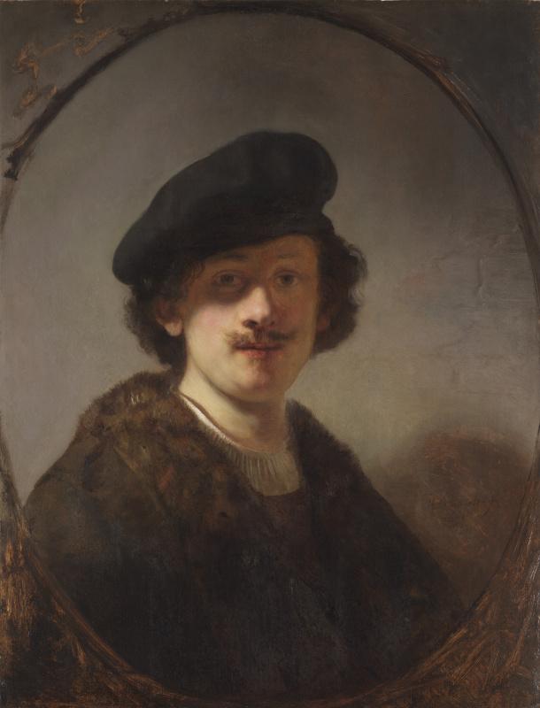 Рембрандт Харменс ван Рейн. Автопортрет с затенёнными глазами