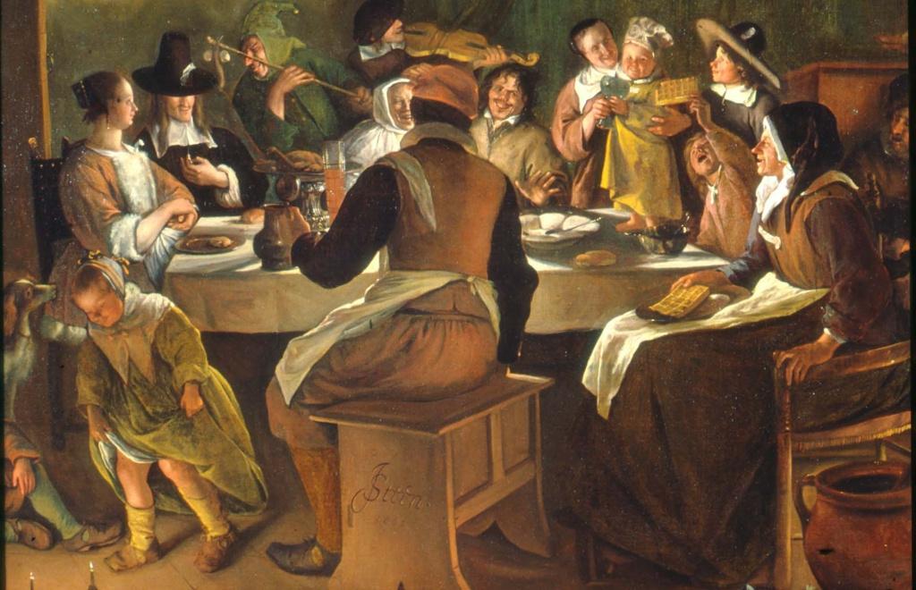 Jan Steen. Twelfth night (excerpt 1)