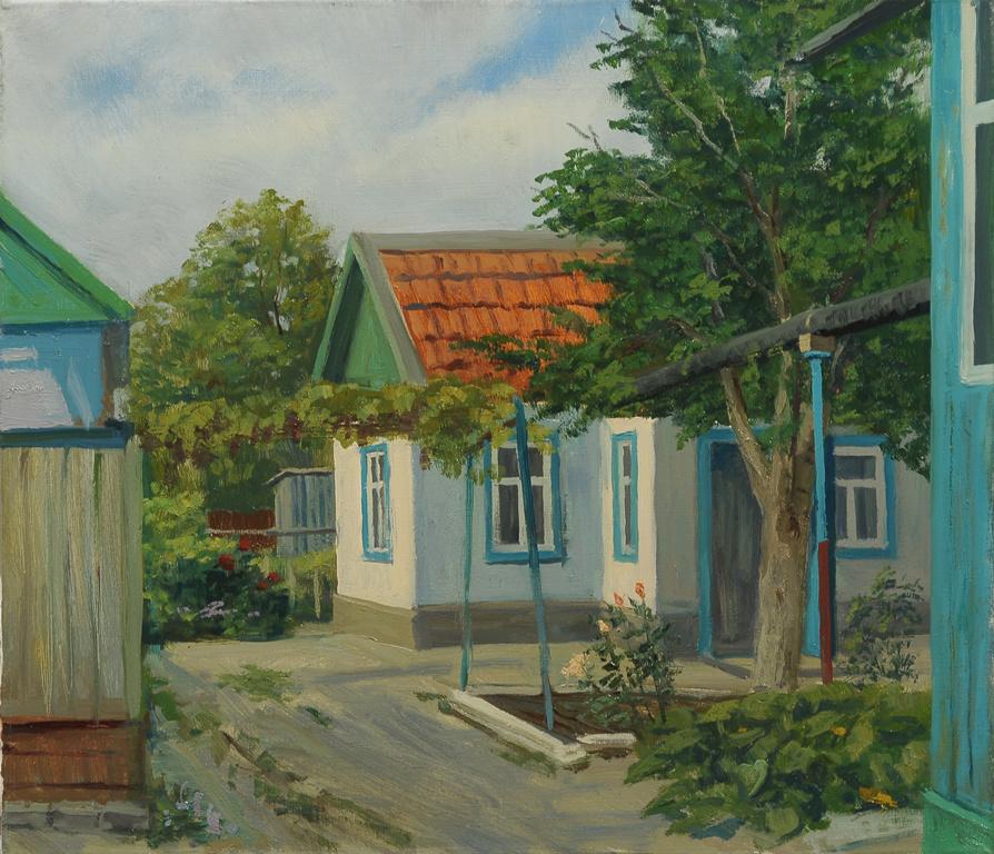 "Сергей Григорьевич Коваль. ""The yard"", Georgievsk, Stavropol Krai H. M."