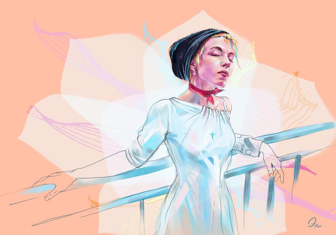 Erica Fox. Кувшинка на мосту
