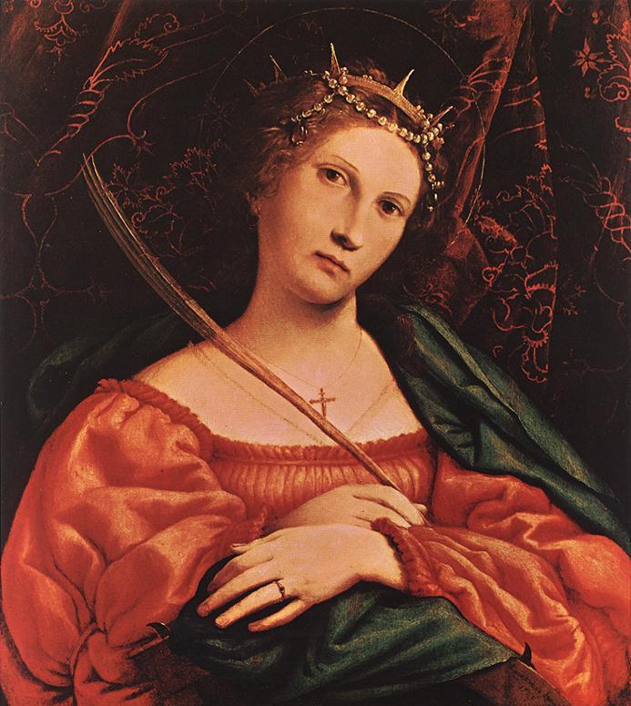 Lorenzo Lotto. St. Catherine