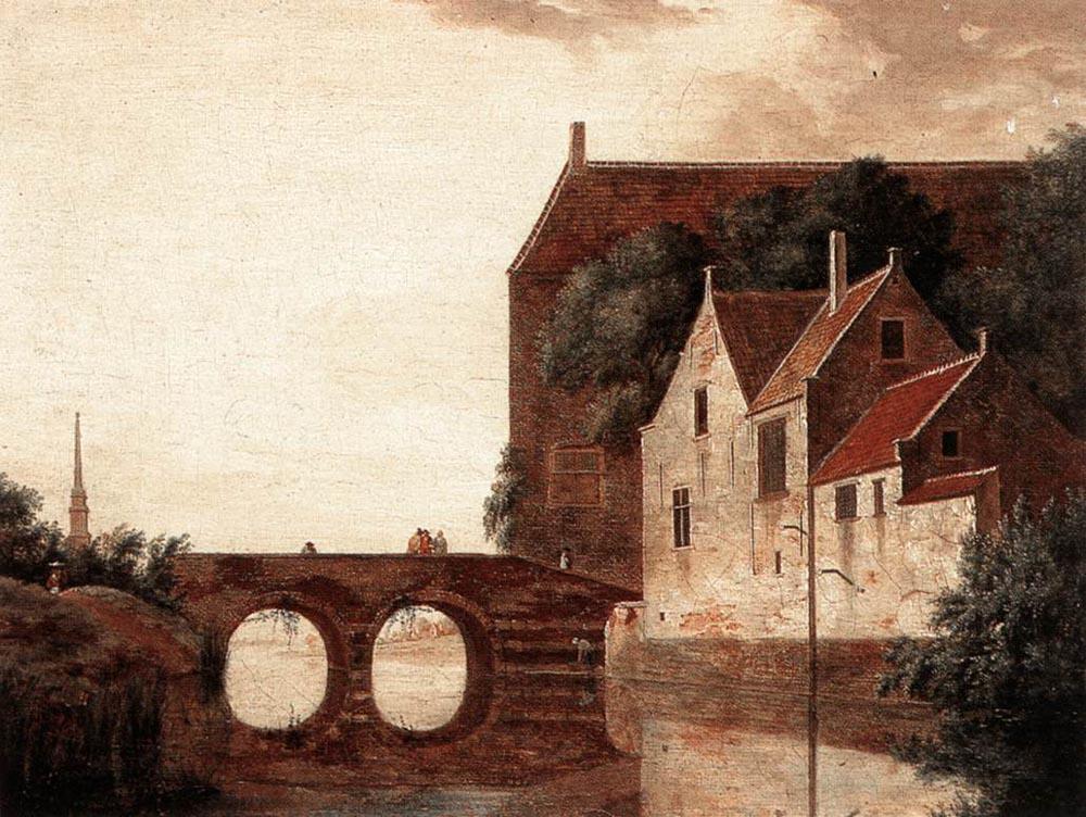 Jan van der Hayden. The conversation on the bridge
