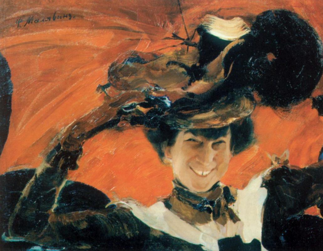 Filipp Andreevich Malyavin. Portrait Of M. K. Olive