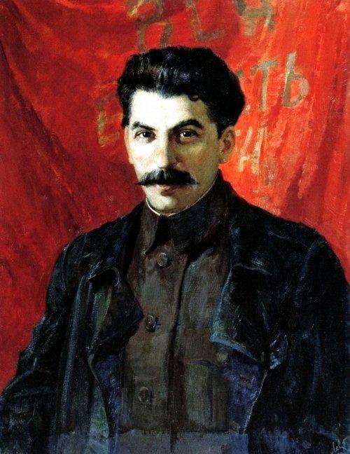 Авель (Адольф) Ильич Левитан. Портрет И.В.Сталина