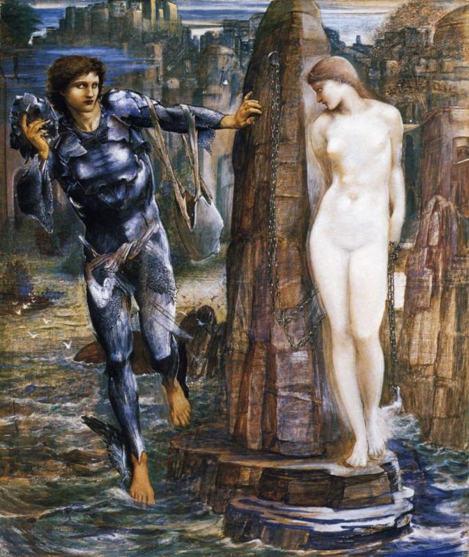 """Edward Coley Burne-Jones. Series """"Perseus"""". Rock of Doom"""