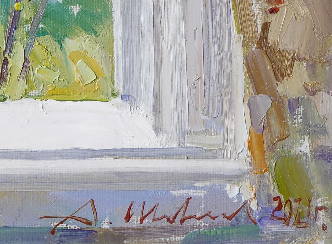 Окно в сад. Холст, масло 22,2 х 26 см. 2021