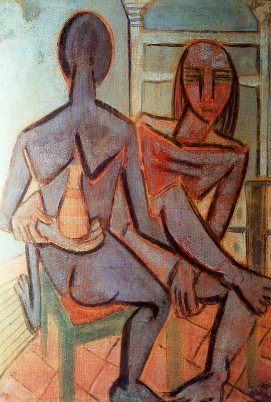 Вифредо Лам. Мужчина и женщина