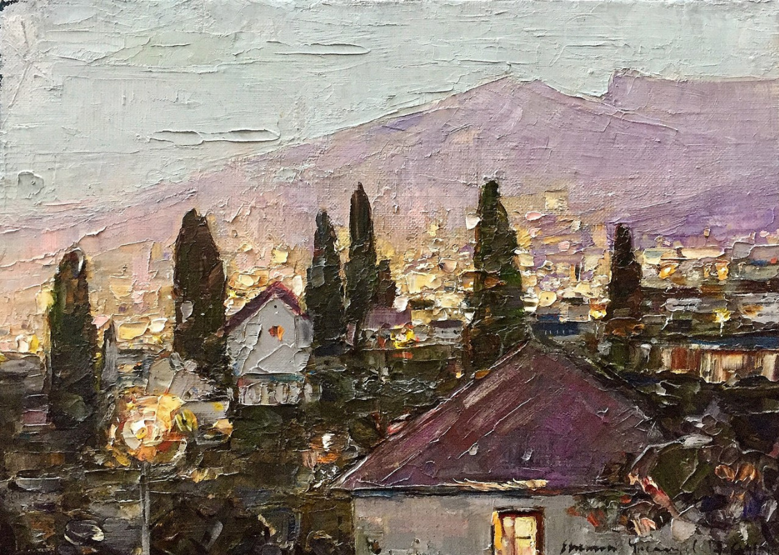 "Eugene Alexandrovich Urvantsev. ""An Evening In Yalta"""