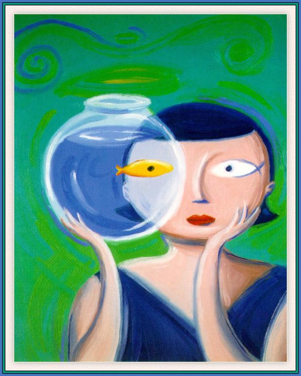 Дэн Яккарино. Девушка с аквариумом
