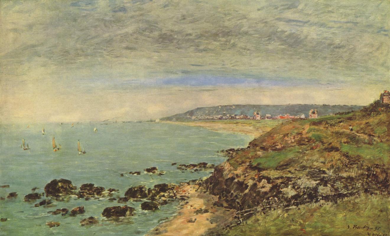 Eugene Boudin. The Atlantic coast near Benerville