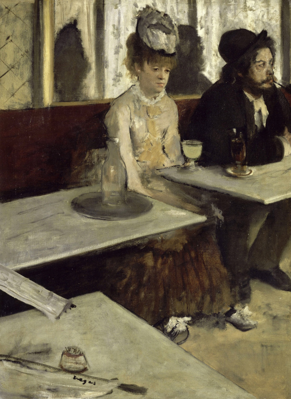 Edgar Degas. Absinthe (In the cafe)