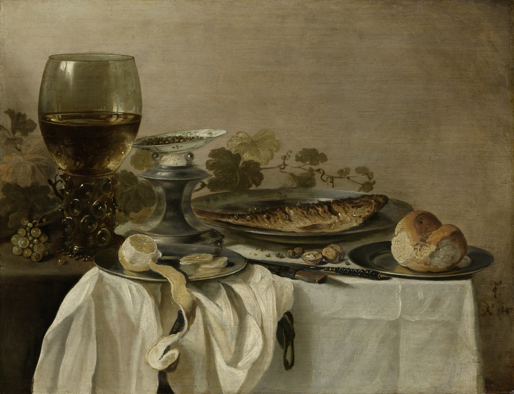 Peter Class. Still life with fish