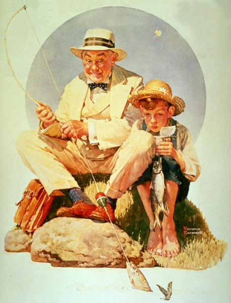 Norman Rockwell. Fishing