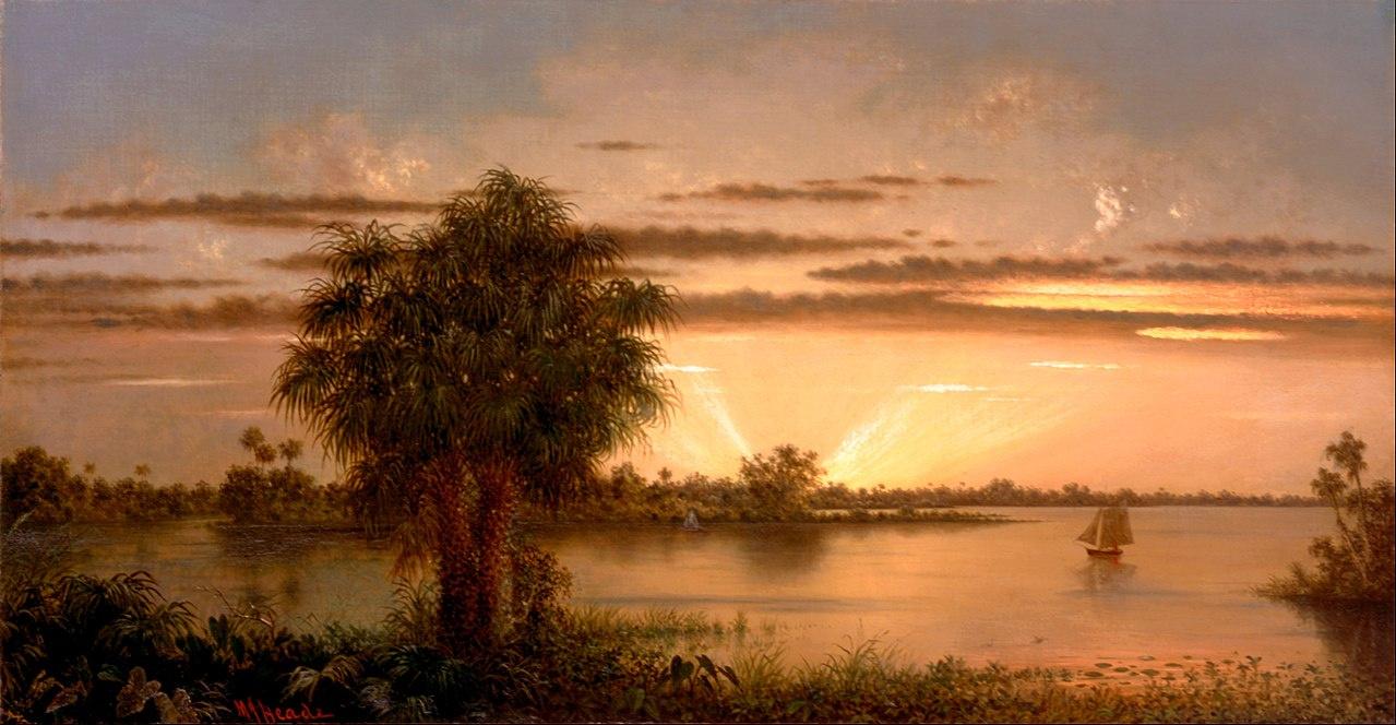 Martin Johnson Head. Florida sunset