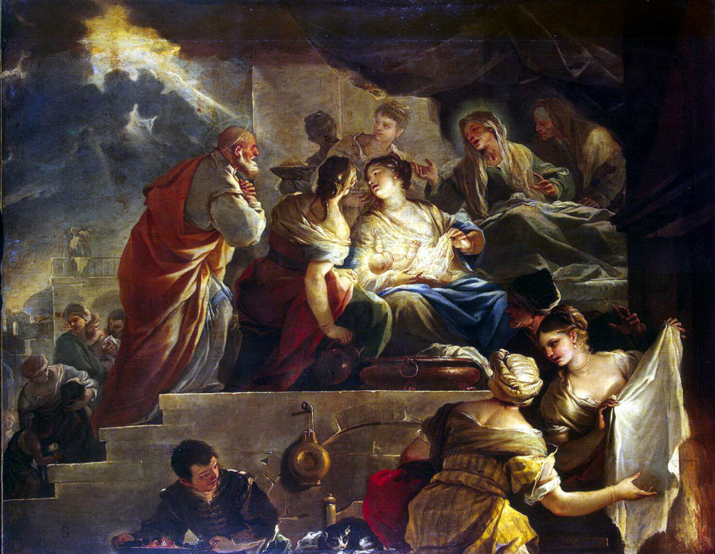 Лука Джордано. Рождение Иоанна Крестителя