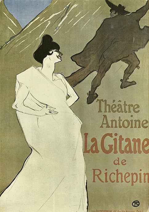 """Анри де Тулуз-Лотрек. Плакат """"Гитана"""""""