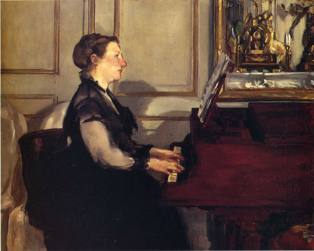 Edouard Manet. Madame Manet at the piano