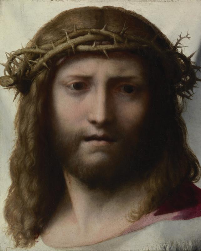 Антонио Корреджо. Голова Христа