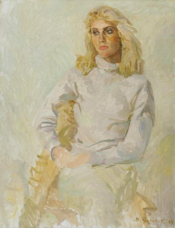 Vadim Ivanovich Odainik. 1984. Oksana, portrait of the artist daughter