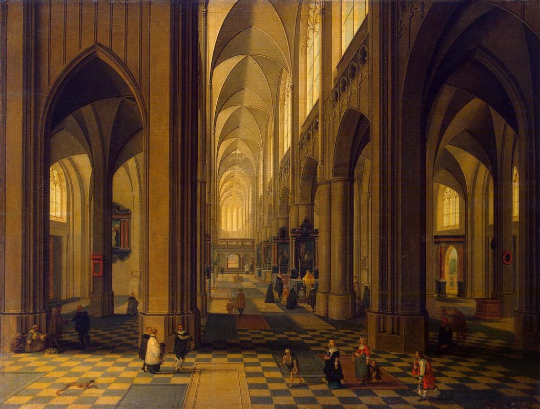Питер Младший Неффс. Интерьер Антверпенского собора